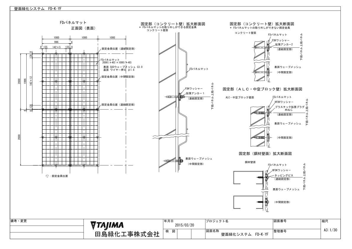 FD-K・YF ヤシ繊維付SUSメッシュ直付型